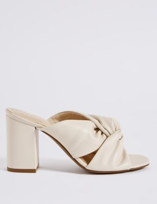 Block Heel Knot Mule Sandals by Marks & Spencer
