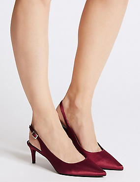 Kitten Heel Slingback Court Shoes
