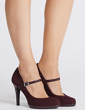 Stiletto Heel Bar Court Shoes