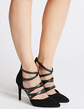 Stiletto Caged Court Shoes