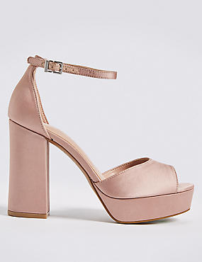 Block Heel Two Part Sandals