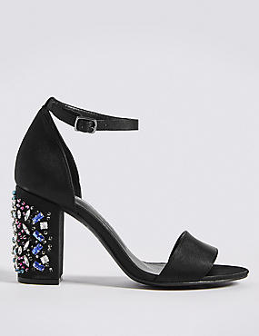 Jewel Heel Two Part Sandals