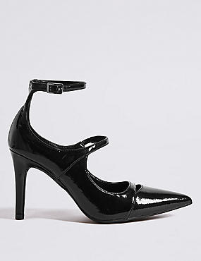 Stiletto Heel Strap Court Shoes