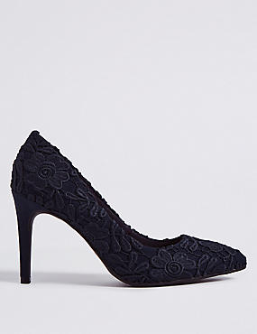 Stiletto Heel Lace Court Shoes