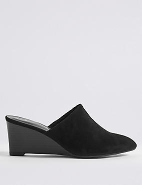 Wedge Heel Mule Shoes