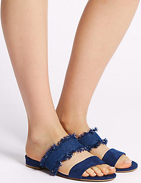 Two Band Slide Mule Sandals