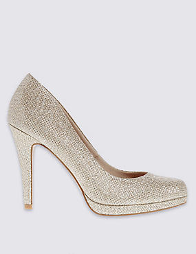 Stiletto Platform Court Shoes with Insolia®