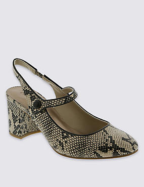 Slingback Dolly Court Shoes with Insolia®