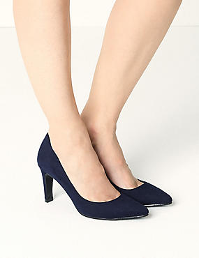 Stiletto Pointed Court Shoes, NAVY, catlanding