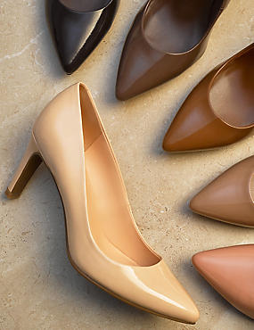 Stiletto Heel Pointed Skin Tone Court Shoes, DARK TAUPE, catlanding