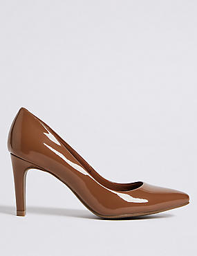 Stiletto Heel Pointed Skin Tone Court Shoes, MOCHA, catlanding