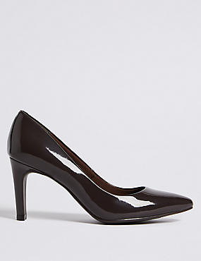 Stiletto Heel Pointed Skin Tone Court Shoes, ESPRESSO, catlanding