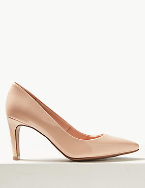 Stiletto Heel Pointed Skin Tone Court Shoes, LIGHT CARAMEL, catlanding