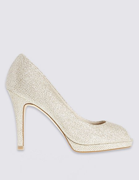 Stiletto Peep Toe Court Shoes with Insolia®