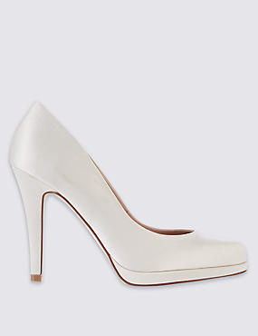 Stiletto Satin Court Shoes