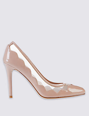 Stiletto Mesh Court Shoes