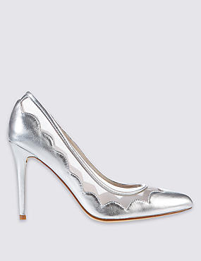 Stiletto Mesh Court Shoes with Insolia®