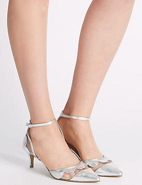 Kitten Ankle Strap Court Shoes