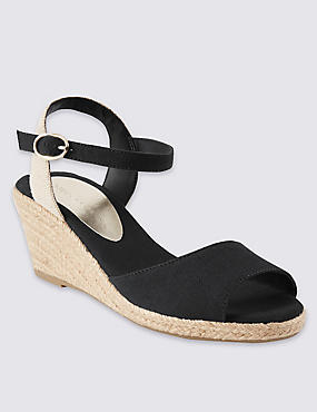 Open Toe Wedge Espadrilles