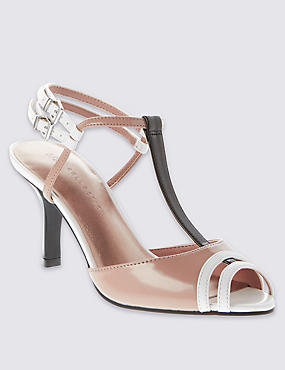 Peep Toe Stiletto High Heel Sandals with Insolia®