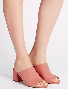 Block Heel Mule Shoes