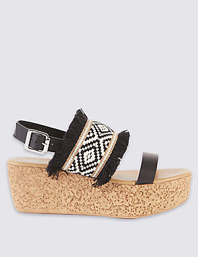 Wedge Heel Buckle Sandals