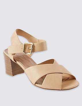 Wide Fit Crossover Sandals with Insolia®