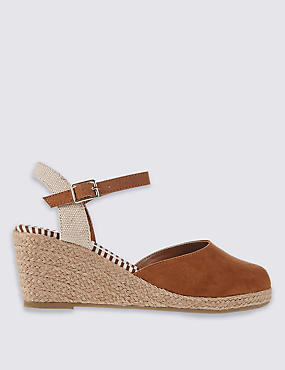 Wide Fit Wedge Heel Closed Toe Espadrilles