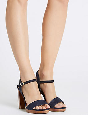 Wide Fit Block Heel Sandals