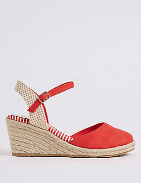 Wide Fit Wedge Heel Espadrilles