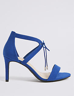 M&S Limited Collection Blue Shoes Size 3 3.5 Stiletto Heel 4�55