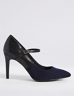 Wide Fit Stiletto Court Shoes