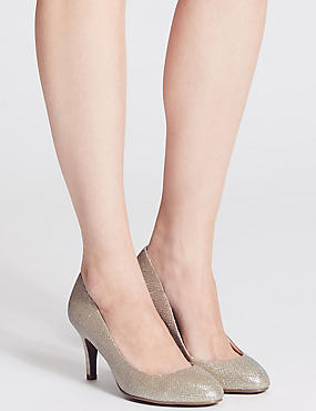 Wide Fit Stiletto Almond Toe Court Shoes