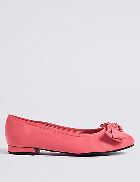 Extra Wide Fit Bow Ballet Pumps