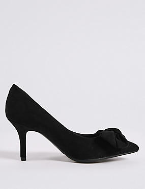 Extra Wide Fit Stiletto Heel Bow Court Shoes