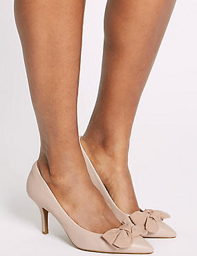 Extra Wide Fit Stiletto Heel Court Shoes, NUDE, catlanding