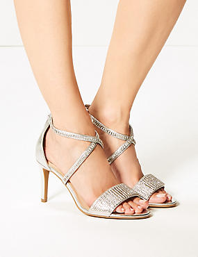 Extra Wide Fit Stiletto Heel Sandals, SILVER, catlanding
