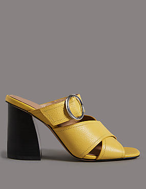 Leather Ring Mule Sandals