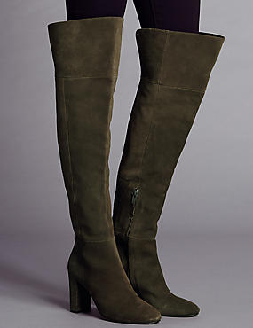 Suede Over The Knee Boots with Insolia®