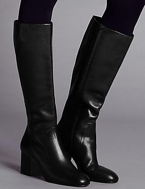 Block Heel Knee Boots with Insolia®