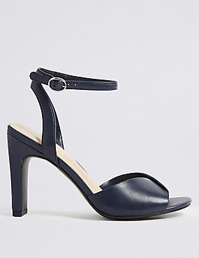 Leather Square Toe Sandals