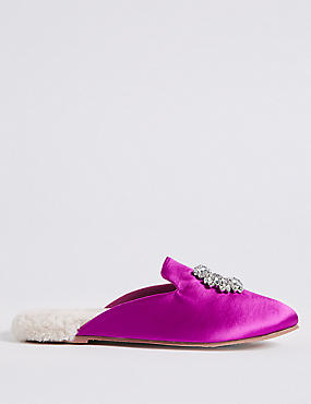 Jewelled Mule Slippers