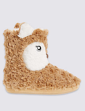Pull On Fox Slipper Boots