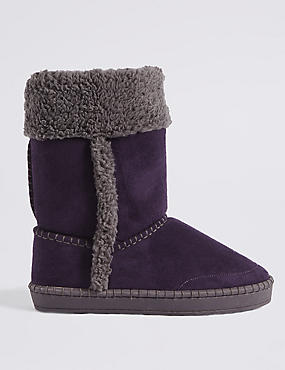 Fur Slipper Boots