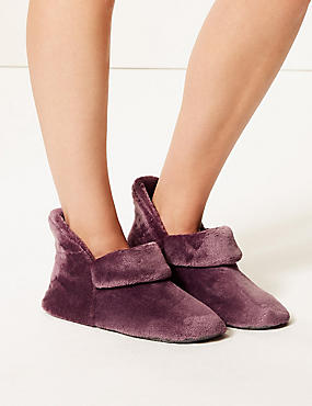 Turned Down Slipper Boots, PURPLE, catlanding
