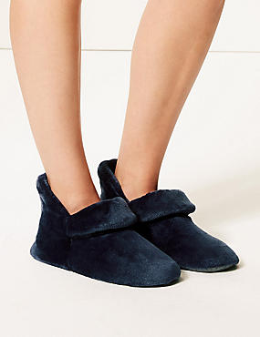 Turned Down Slipper Boots, NAVY, catlanding