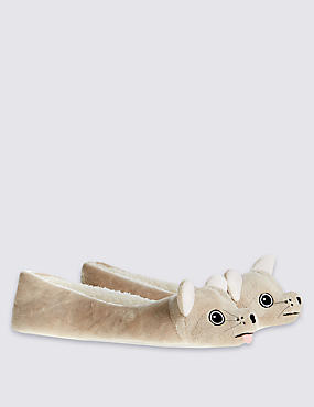 Pull On Dog Ballerina Slippers