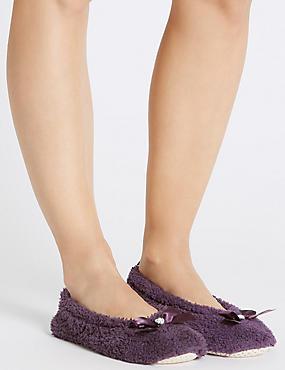 Gem Ballerina Slippers, PURPLE, catlanding