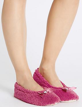 Gem Ballerina Slippers, CRANBERRY, catlanding