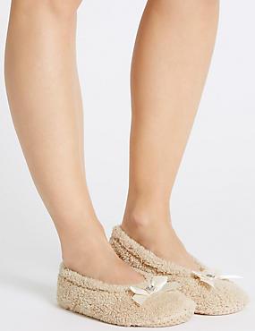 Gem Ballerina Slippers, STONE, catlanding